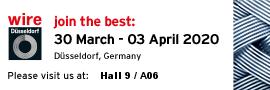 Visit us in Hall 9/A06 at Wire Düsseldorf